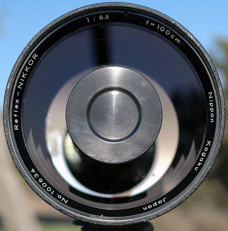 LINK to Stephen gandy's Cameraquest Site on this extremely rare Reflex-Nikkor 1:6.3 f=100cm (1000mm f/6.3) Mirror Nikkor lens.