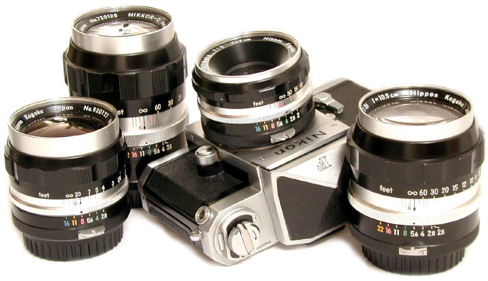 Nikon F TICK Mark Lenses